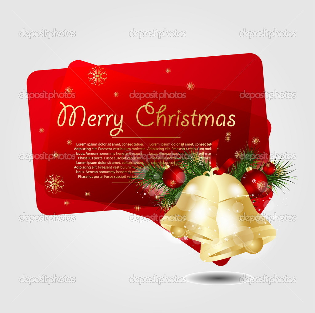 Merry Christmas Background  Stock Vector #7526898