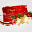 Vector Christmas greeting card - Stock Vector