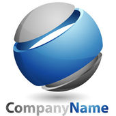 3D abstract Logo — Stock Vector