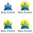 Real Estate logo — Vector de stock