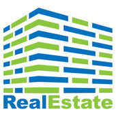 Real Estate logo — Stok Vektör