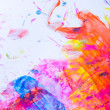 Abstract watercolor background - Stock Photo