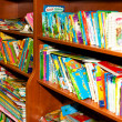 Children literature  Section in Bookstore — Stock Photo