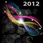 calendrier 2012 — Vecteur #7808902