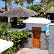 Entrance to the area of luxury villa, Tenerife island, Spain - Stockfoto