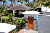 Entrance to the area of luxury villa, Tenerife island, Spain — Stock Photo