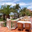 Open-air restaurant at luxury hotel, Tenerife island, Spain - Foto Stock