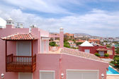 View on the pink villa, Tenerife island, Spain — Stock Photo
