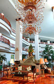 The luster at the lobby of luxury hotel, Pattaya, Thailand — Foto de Stock