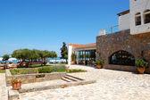 роскошный отель отдыха и ресторан, крит, греция — Стоковое фото