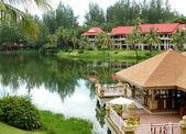 Restauracji w luksusowy hotel, phuket, tajlandia — Zdjęcie stockowe