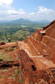 The view from Sigiriya (Lion's rock) is an ancient rock fortress — Stock Photo