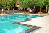 Swimming pool at the luxury hotel, Bentota, Sri Lanka — Stock Photo