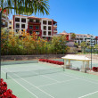 Tennis courts at the luxury hotel, Tenerife island, Spain — Stock Photo #7766931