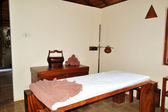 SPA massage bed at luxury hotel, Bentota, Sri Lanka — Stock Photo