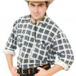 Cowboy keeps his hands on his belt. — Stock Photo #6819696