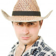 Portrait of a cowboy on a white background. — Stock Photo #6819697