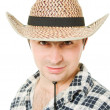 Portrait of a cowboy on a white background. — Stock Photo #6819706