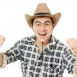 Cowboy compresses his hands into fists. — Stock Photo #6819722