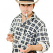 Cowboy with a cigarette in his mouth. — Stock Photo