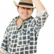 Cowboy takes off his hat. — Foto Stock