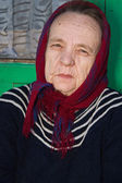 Portrait of an old woman. — Foto de Stock