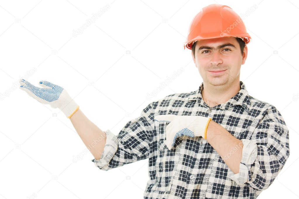 A successful businessman in the helmet. — Stock Photo #6819637
