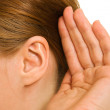 Ear women as part of the body. — Stock Photo #6820204