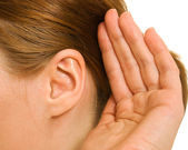 Ear women as part of the body. — Stock Photo