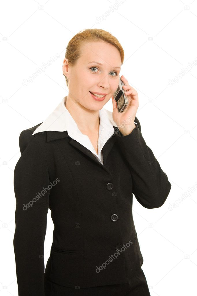 Business woman talking on the phone — Stock Photo #6820052