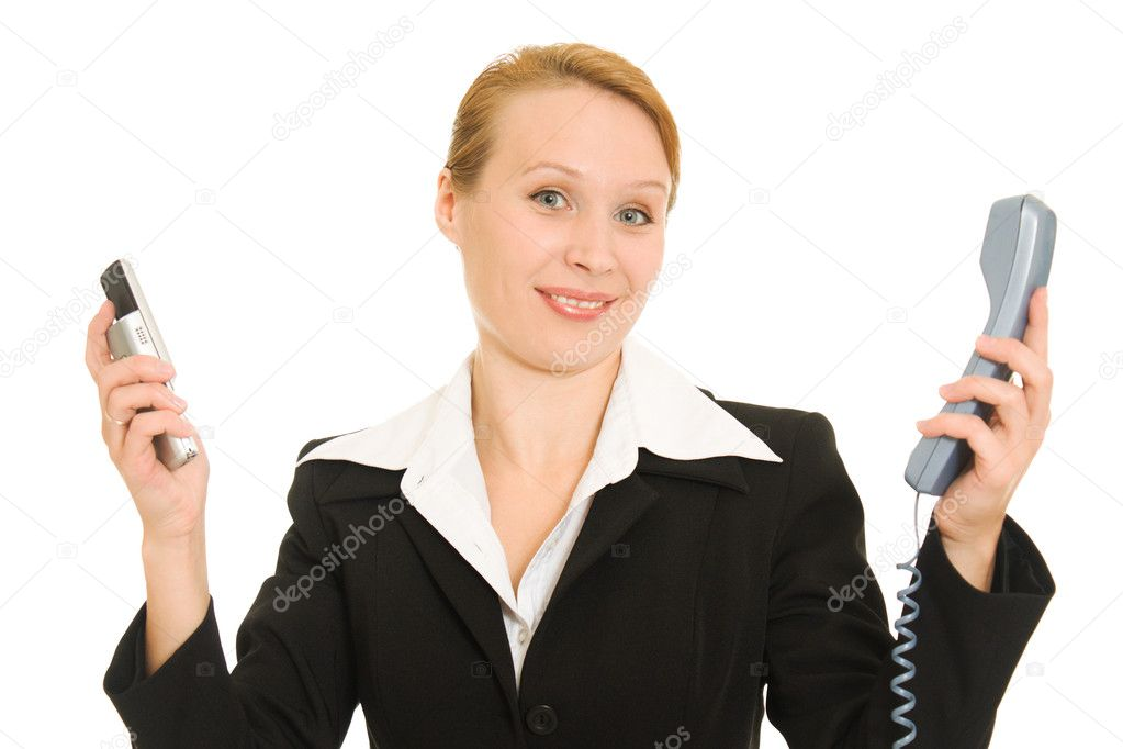 Business woman talking on the phone — Stock Photo #6820176