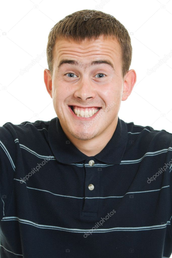 Smiling man on a white background. — Stock Photo #6820557