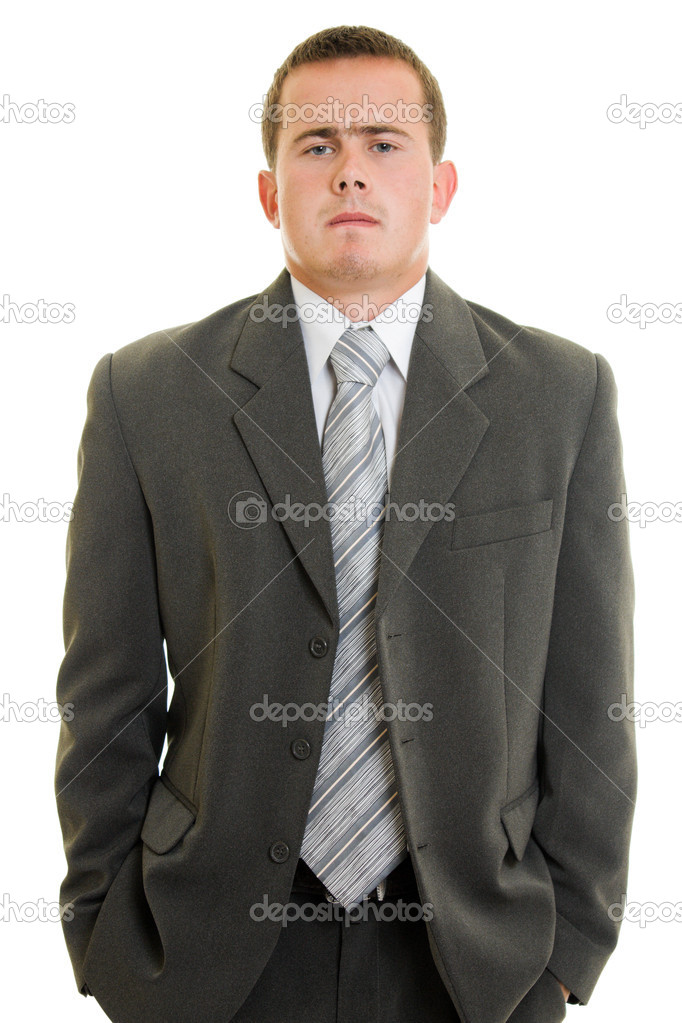 Serious businessman on white background. — Stock Photo #6820923