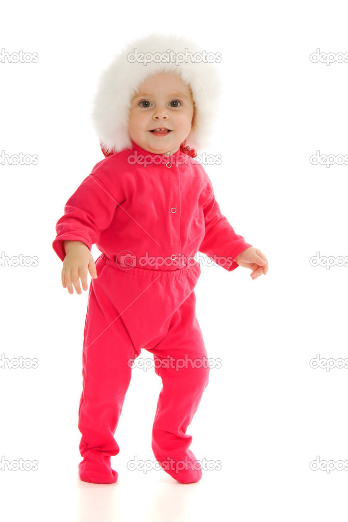 Happy Christmas baby on a white background. — Stock Photo #7258994