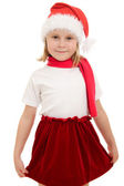 Happy Christmas child on a white background. — Stock Photo