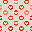 Stock Vector Illustration: Romantic seamless pattern with heart — Stock Vector