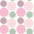 Ornate floral seamless texture, — ベクター素材ストック