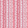 Stripy seamless pattern with heart in pink. Romantic endless texture. — Stock Vector