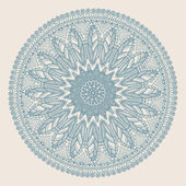 Ornamental round lace pattern — Vetor de Stock