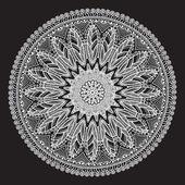 Ornamental round lace pattern — Vecteur