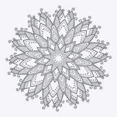 Dekoratif yuvarlak dantel modeli — Stok Vektör