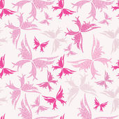 Romantic butterfly seamless pattern — Stock Vector