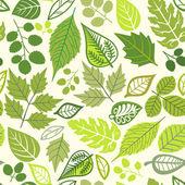 бесшовный узор с листьями, осенью листья фон — Cтоковый вектор