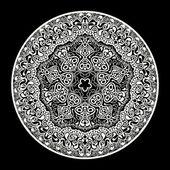 Ornamental round lace — Stock Vector