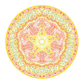 Ornamental round lace — Vector de stock