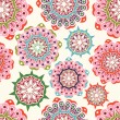 Ornate flowers seamless texture,endless pattern — Stockvectorbeeld