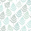 图库矢量图片: Fir tree branch seamless texture, endless pattern