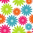 Bright floral seamless texture, endless pattern with flowers — Stockvektor