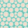 Bright floral seamless texture, endless pattern with flowers — ストックベクタ