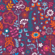 Royalty-Free Stock Vector Image: Floral seamless pattern, endless texture with bright cartoon flo